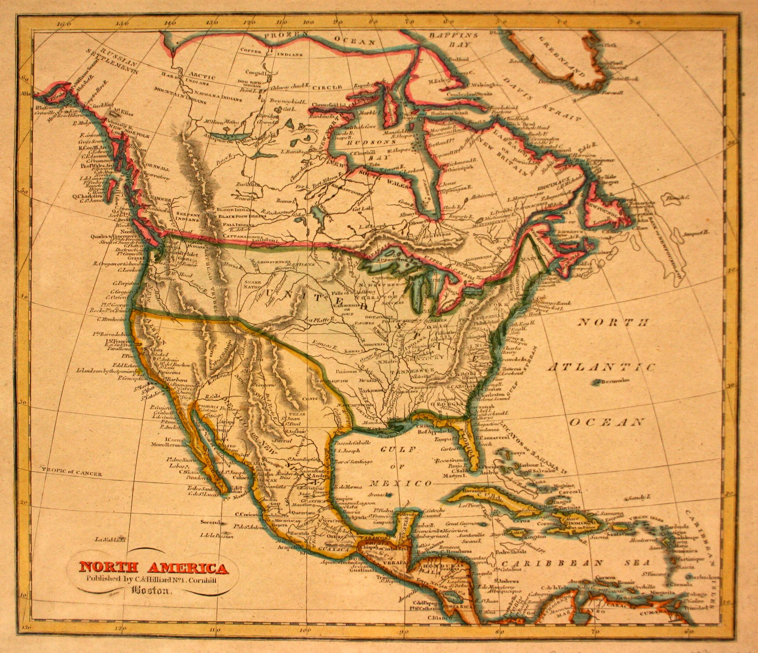 North America Yana Marty Davis Map Collection - Map of north louisiana