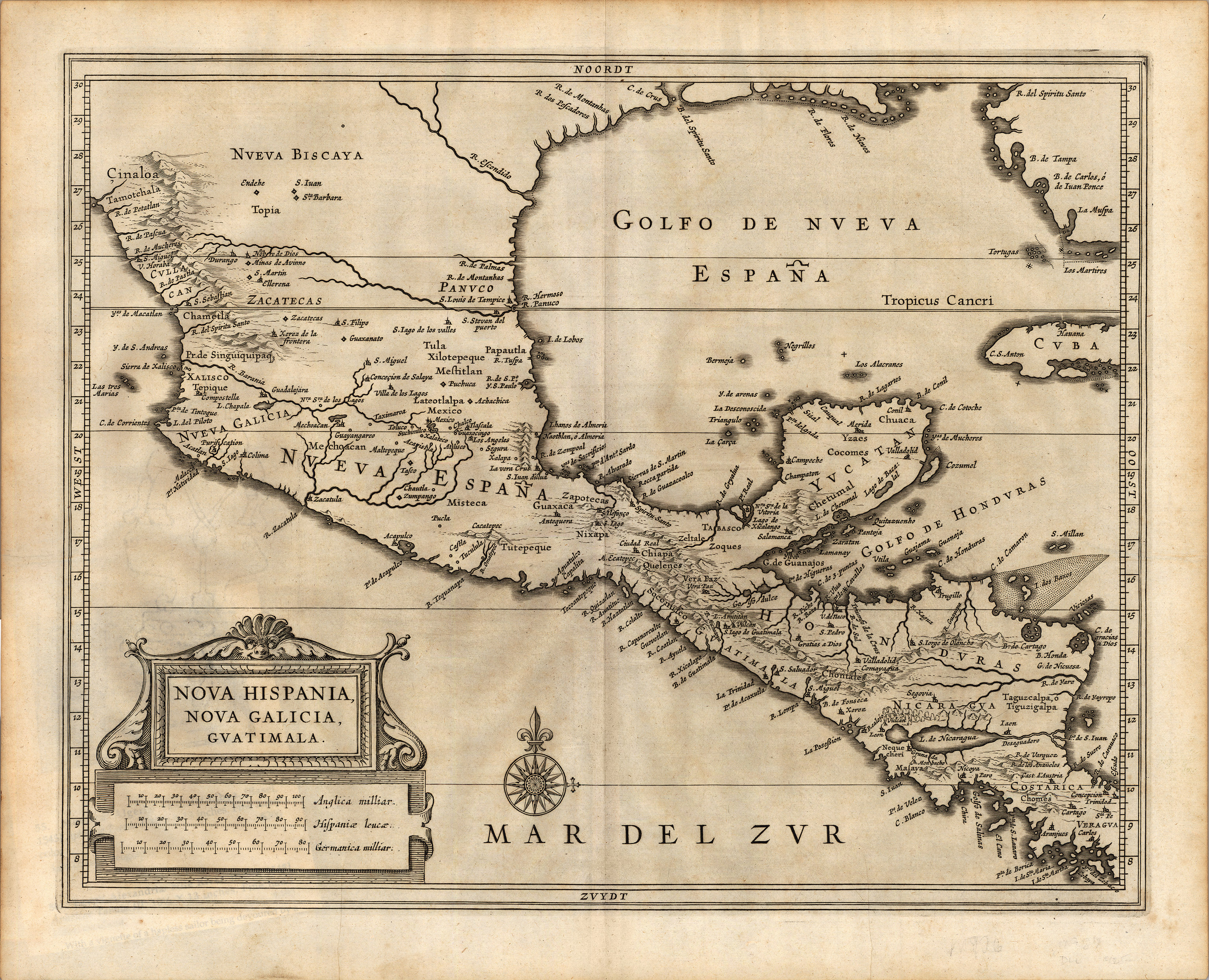 Nova hispania nova galicia guatimala yana marty davis map this map was published by dutch cartographer joannes de laet 1581 1649 in his history of the new world atlas in 1640 and it became a foundation map for gumiabroncs Gallery