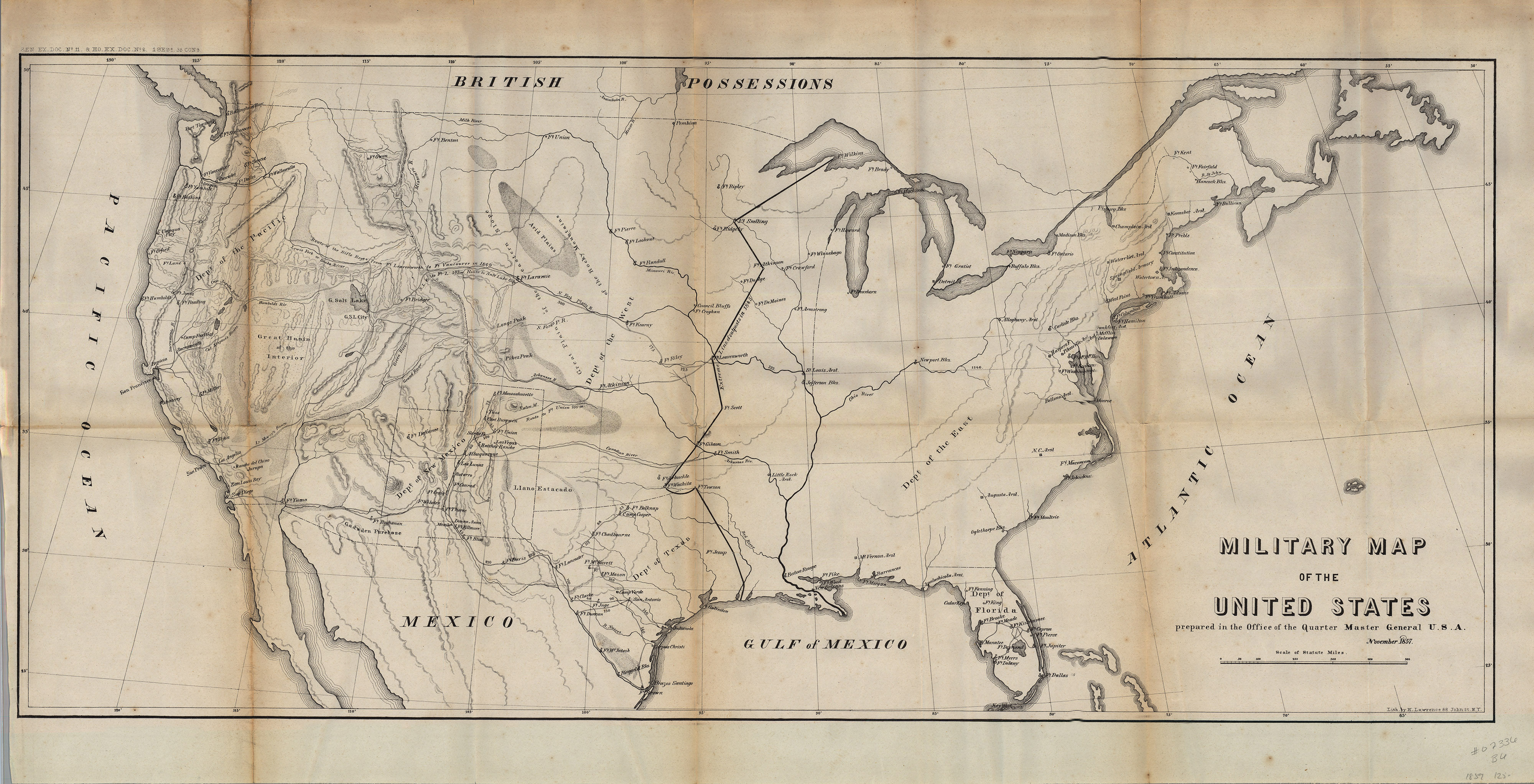 Military Map of the United States Yana Marty Davis Map Collection