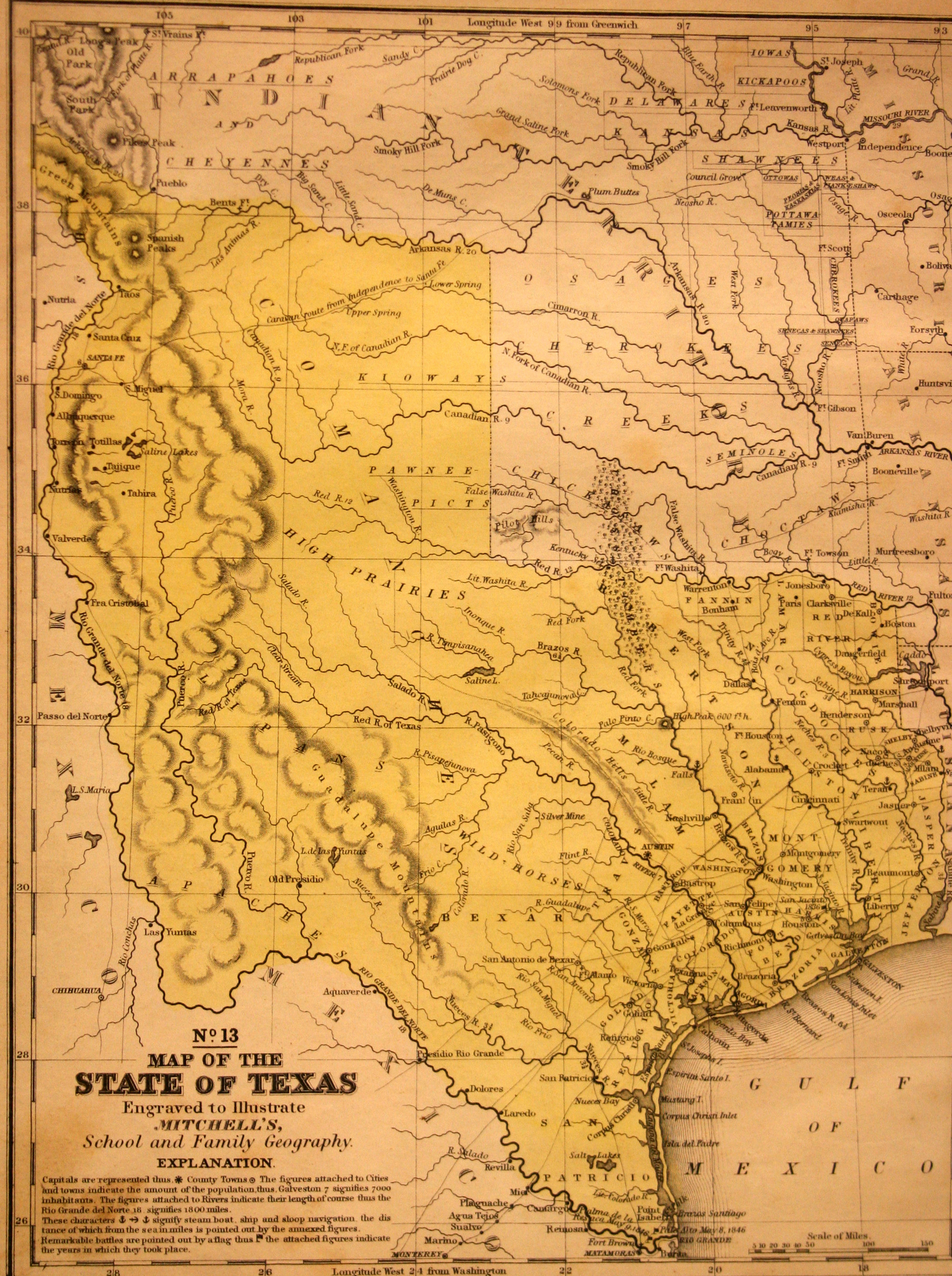 Map Of The State Of Texas No Yana Marty Davis Map Collection - Map of us 1845
