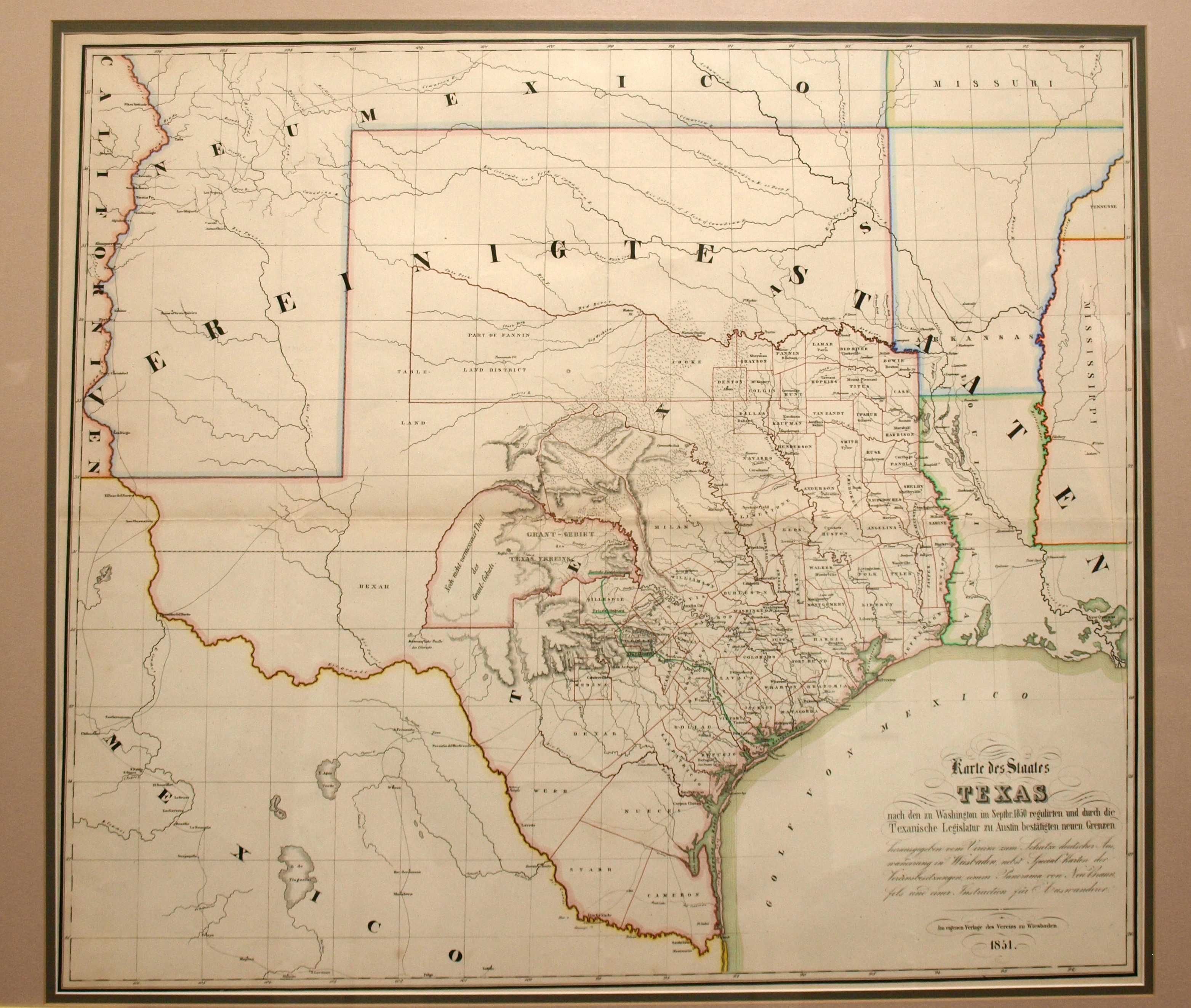 Karte Des Staates Texas Yana Marty Davis Map Collection