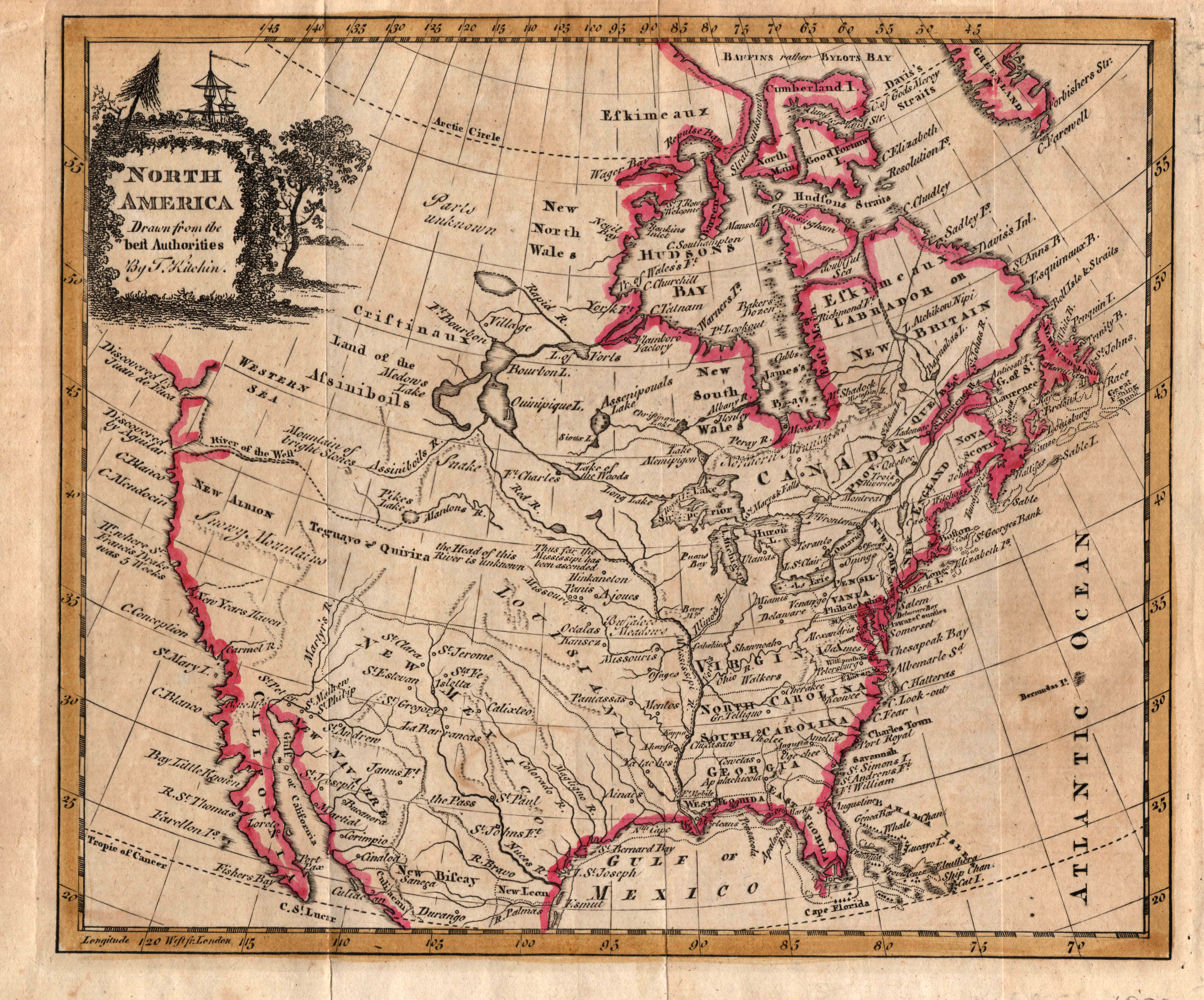 North America Drawn From The Best Authorities Yana  Marty - Early maps of america