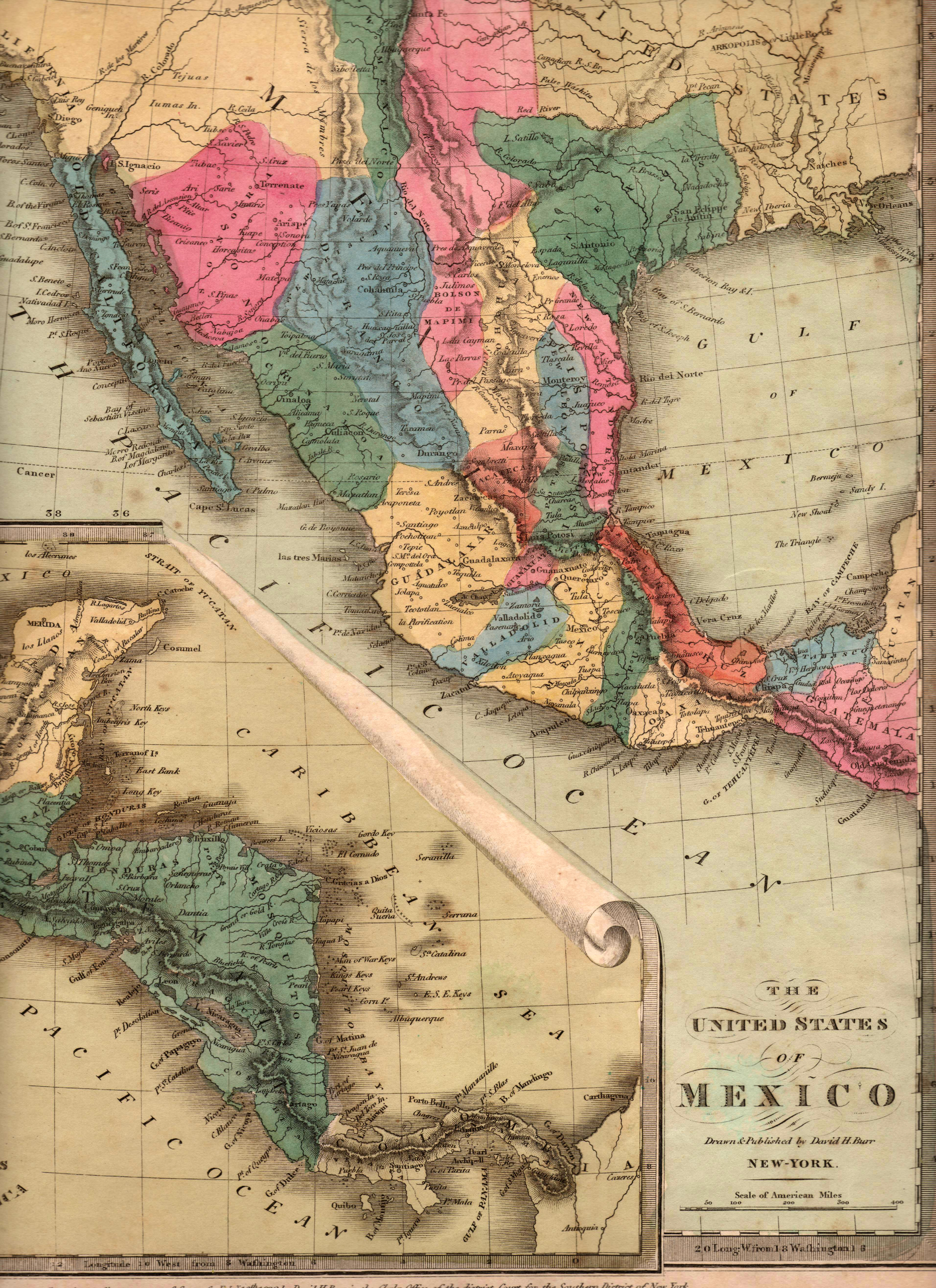Map Of Texas 1835.The United States Of Mexico Yana Marty Davis Map Collection